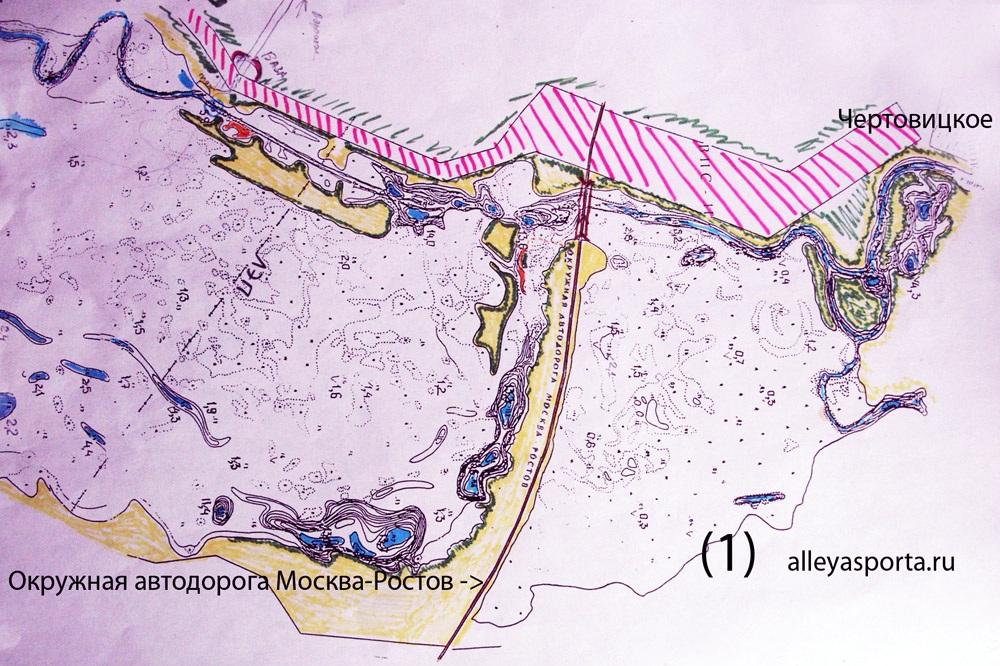 карта рыболовных мест в воронежской